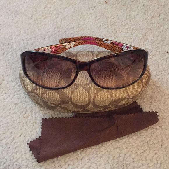 2b6c3c42ce5dd Coach Accessories - COACH Sarah S437 Tortoise Sunglasses